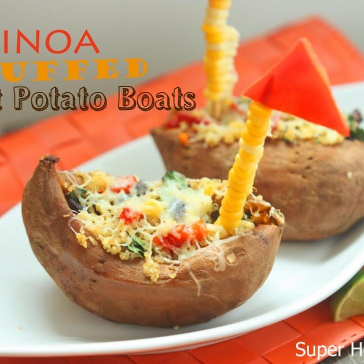 Quinoa Stuffed Sweet Potato Boats