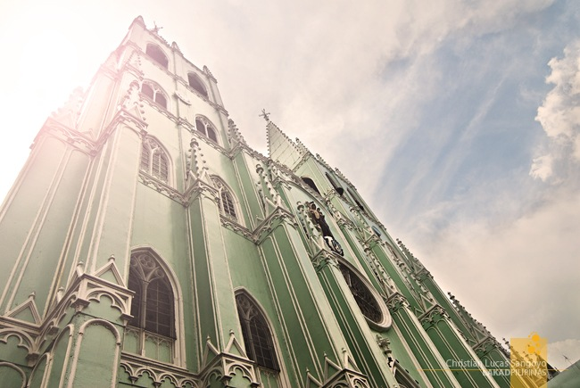 The Main Facade of San Sebastian Basilica in Manila