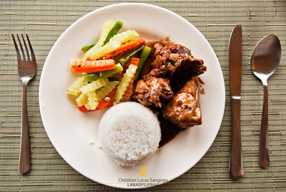 Chicken Adobo Meal at Mt. Tapyas Hotel