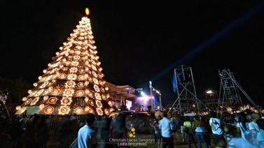 The Stage and the Huge Christmas Tree at UST Paskuhan