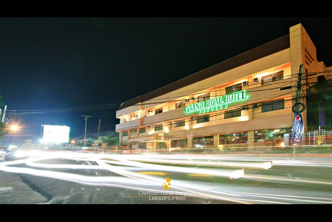 Bacolod's Grand Regal Hotel at Night