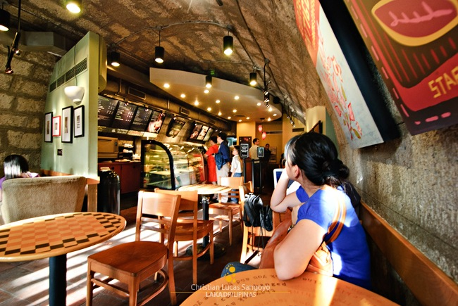 Waiting for Coffee at Starbucks Intramuros