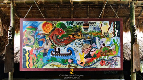 A Mural at Tam-Awan Village's Waiting Area in Baguio City