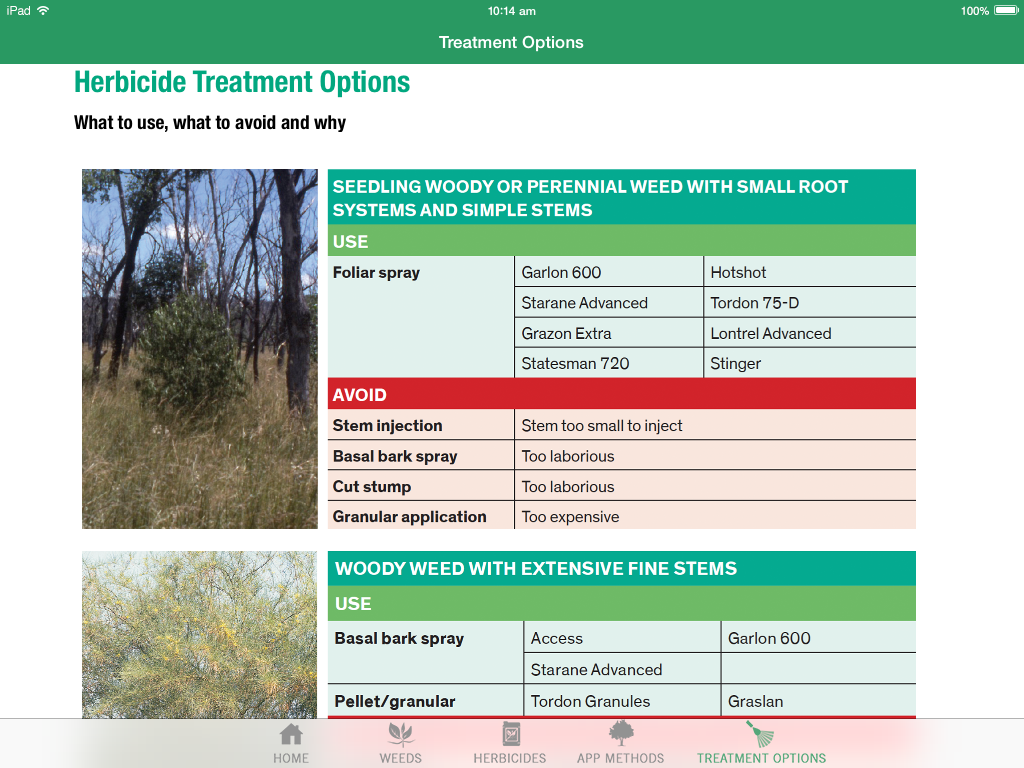 Woody Weeds for tablets- screenshot