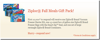 Centsible Savings: First 10,000 people get FREE Ziploc gift pack