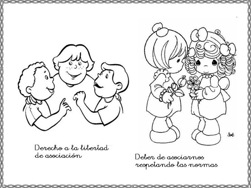 Best Dibujos Para Pintar Sobre Los Derechos Y Deberes De Los Ninos