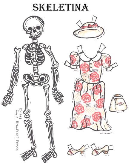 Recortables Halloween Vestir El Esqueleto Blog De Imágenes