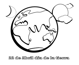 22 de abril, dibujo para pintar