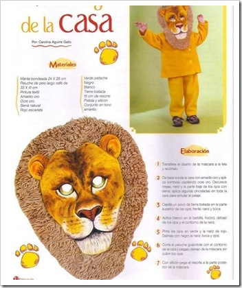 Ideas Para Un Disfraz Casero De Leon Para Nino Colorear Dibujos - Disfraz-casero-de-leon