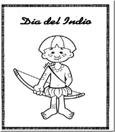 Dibujos Para Colorear De Indios Día Del Indio Colorear Dibujos