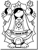Colorear Virgen De Guadalupe Colorear Dibujos Infantiles