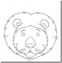 mascara león blogcolorear-com (1)