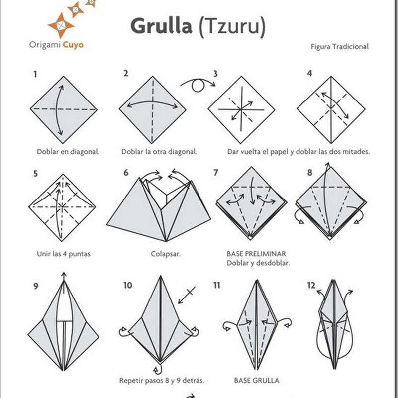 Papiroflexia para niños Grulla