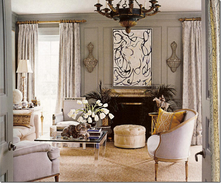 Gerrie Bremermann Uses The Stark Diamond Sisal Rug In This Living Room Though And Not Seagr Look Is Just As Effective Slightly Dressier