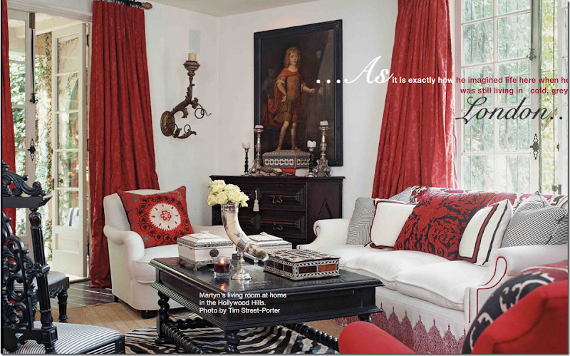 Image Martyn Lawrence Ballards Living Room Has Red Drapes