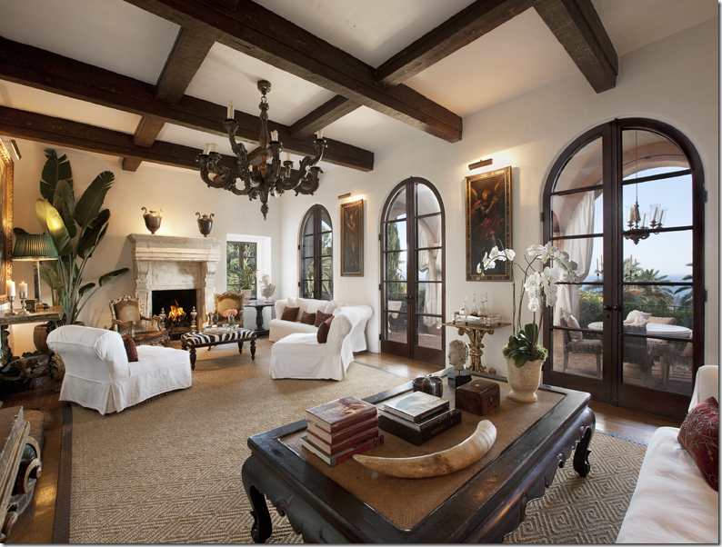 tropical interior living room decorating also hardwood ceiling style | COTE DE TEXAS: La Quinta