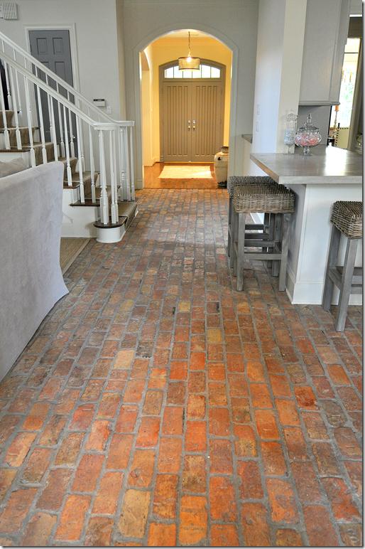 Interior Brick Flooring : Cote de texas sally wheat decorates the brick house
