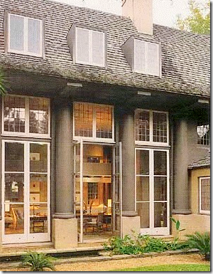 COTE DE TEXAS  One House   Three DesignsAlso notice the two wings that flank the windows  another feature that McAlpine incorporated along   the lilting silhouette