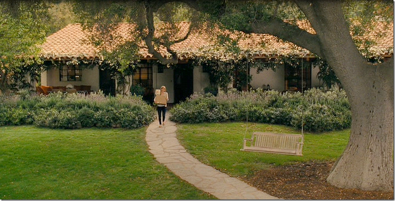 Spanish style ranch exterior in Santa Barbara in It's Complicated movie with Meryl Streep.