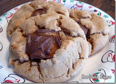 Cherie's Snickers Peanut Butter Cookies