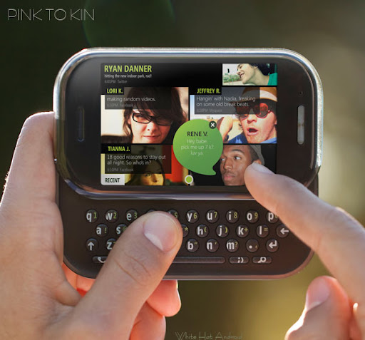 Microsoft KIN Two or Pink Pure the horizontal slider phone available with vodaphone soon photo