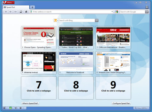 opera link, opera unite, opera turbo for great web browsing experience