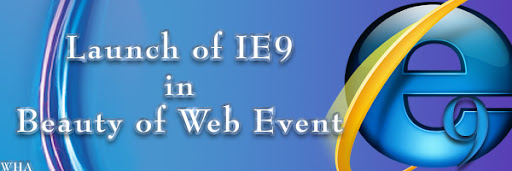 Microsoft Launches Internet Explorer 9 IE9 in Beauty of the web event in san francisco logo image