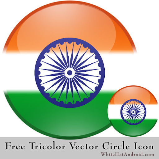 free Indian Tricolor flag circle vector icon psd logo image download