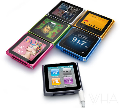 GADGET,Apple iPod nano Features & Specifications, Available at Stores  voiceover multitouch live fm radio genius fitness image