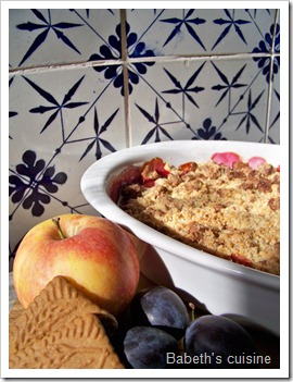 crumble pommes quetsches