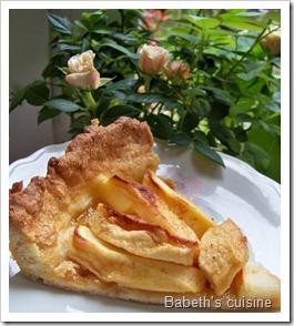 tarte aux pommes du dimanche morceau