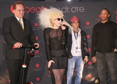 Lady Gaga, Jimmy Lovine, Dr. Dre and Noel Lee