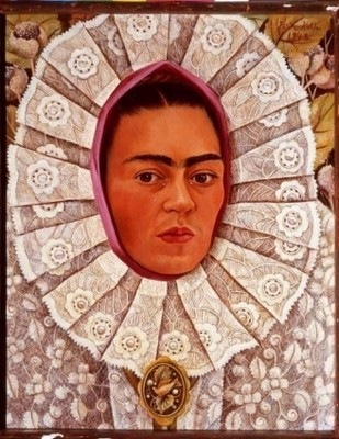 Frida Kahlo, Self-Portrait with Medallion, 1948