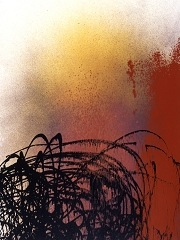HANS HARTUNG Acrylic on canvas, 1989. Courtesy of Cheim & Read, New York