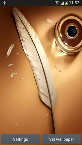 Note feather wallpaper