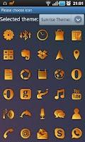 Screenshot of Sunrise GO Launcher Ex Theme