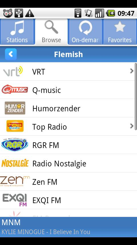 Radio.be - screenshot