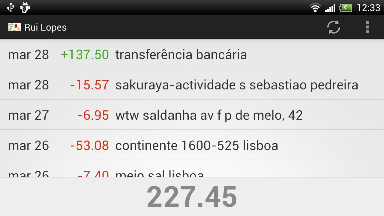 cartão à la card - screenshot