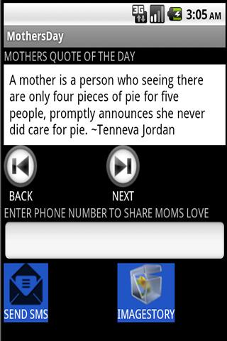 Share Moms Love- screenshot