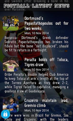 Football News - Lock Screen