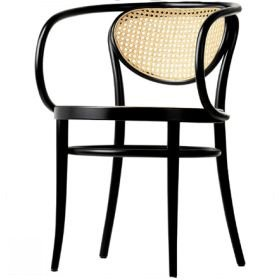 Thonet Chair With Arms And Cane
