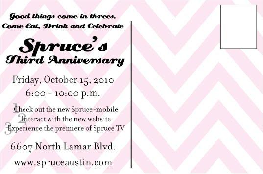 Spruce Anniversary Invitation!