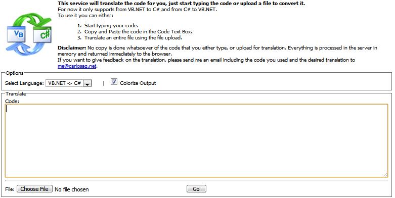Kaotic Reality: VB  NET, C# Code Converter - Fryan's Digital World