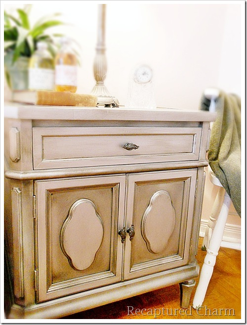 Silver Metallic Night Stands 065a