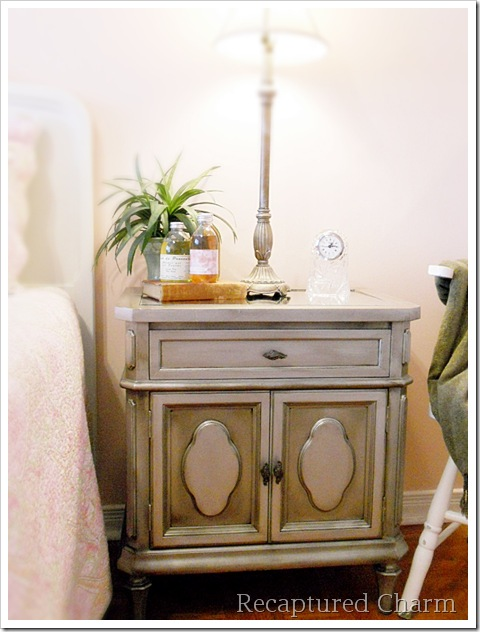Silver Metallic Night Stands 047a