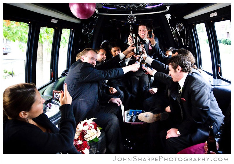 Limo Bus Wedding Photography Minneapolis