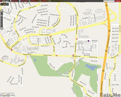 Jom Cari Makan Restaurant Map