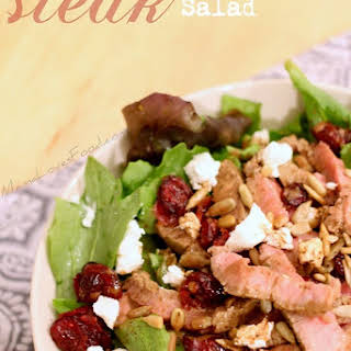 Cranberry and Goat Cheese Steak Salad..