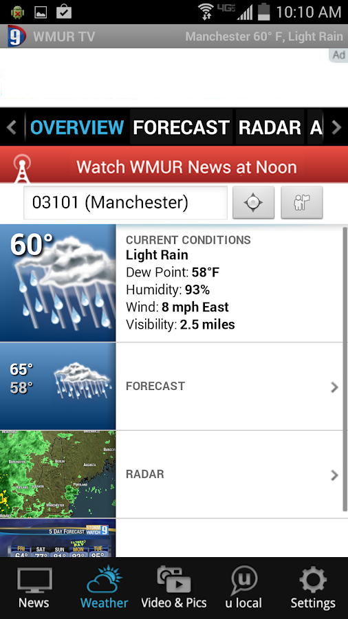 WMUR News 9 - NH News, Weather - screenshot