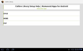 Screenshot of Calibre Library